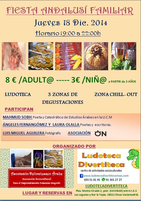 Fiesta Andalusí Familiar - Ludoteca Divertiteca - Asociación Delicatessen Árabes