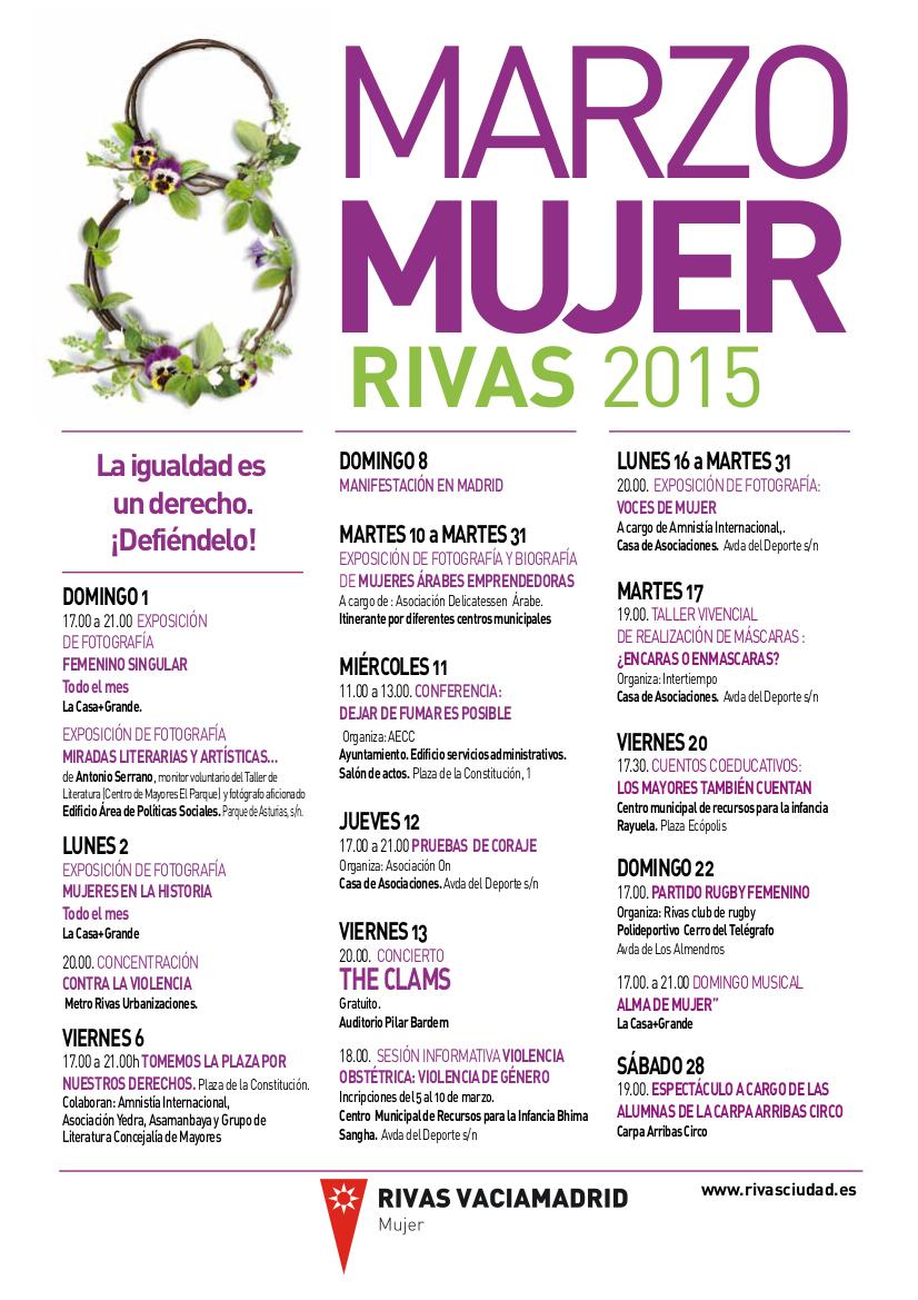Cartel Marzo Mujer Rivas 2015