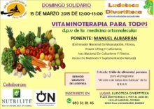 Vitaminoterapia.Charla en Ludoteca divertiteca. Red de Recuperación de Alimentos