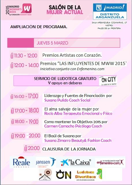 Programa del Salon de la Mujer actual 5 marzo - fundación Woman's Week