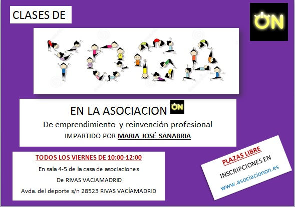 Clases gratis de Yoga y Chi-kung - Maria José Sanabria Chacón - Asociación ON