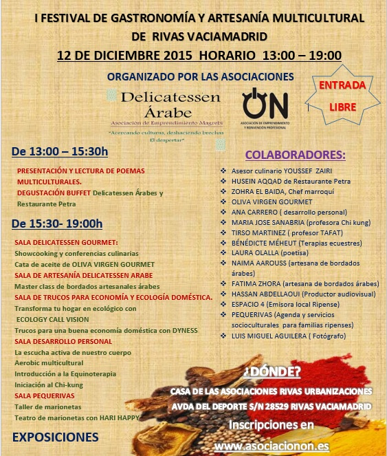 FESTIVAL GASTRONOMICO Y ARTESANAL MULTICULTURAL 2015