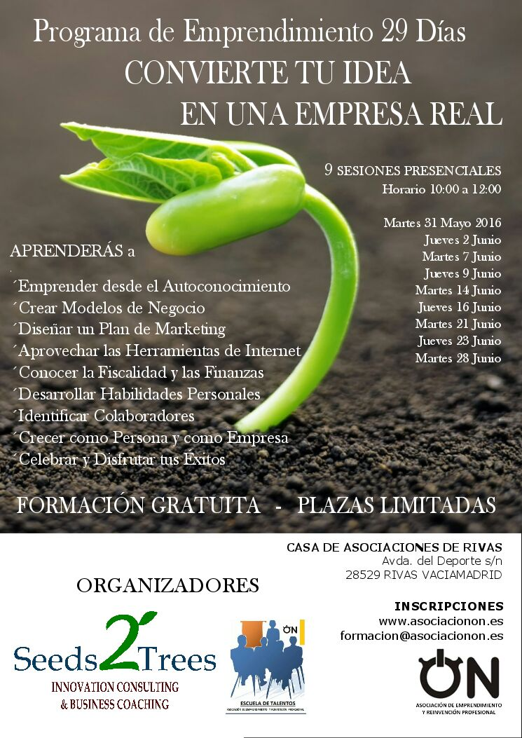 Formación para emprendedores – Programa de emprendimiento 29 días