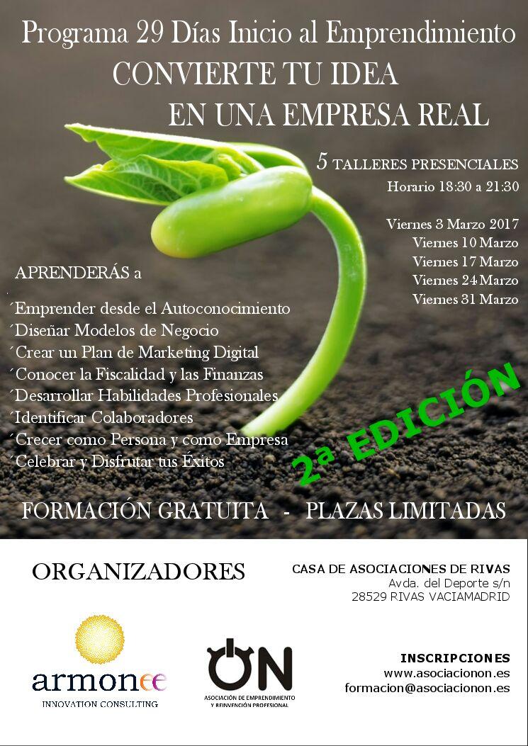 Programa 29 días Inicio al Emprendimiento