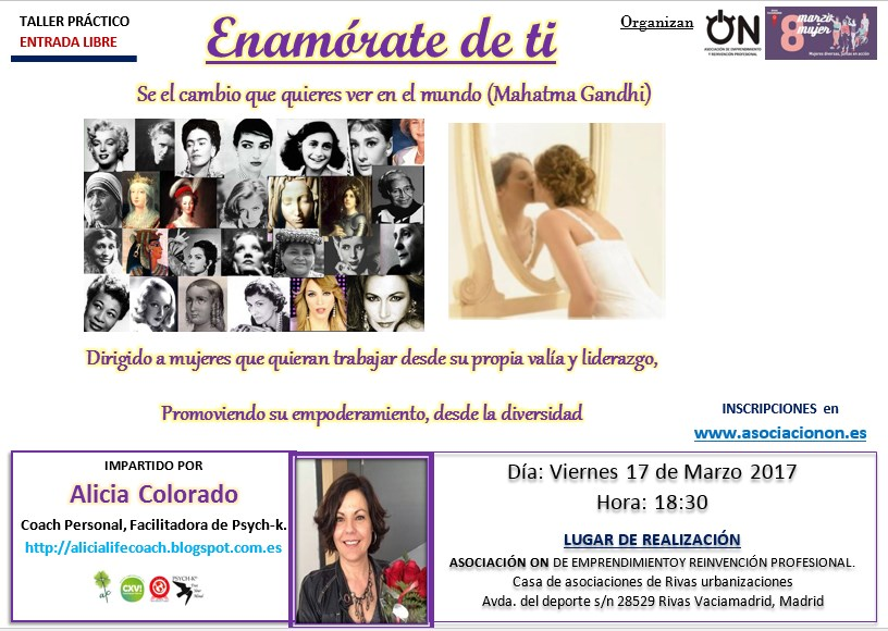 Taller  ¨ENAMORATE DE TI¨ por Alicia Colorado