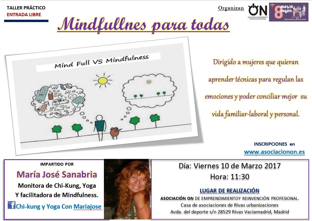 Taller MINDFULNESS PARA TODAS por Maria José Sanabria